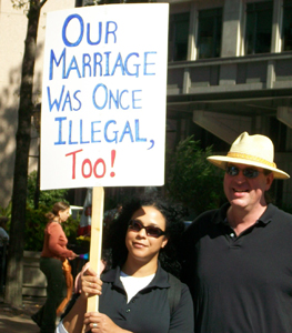Our Marriage Was Once Illegal, Too! (image courtesy of Genia V. Stevens)